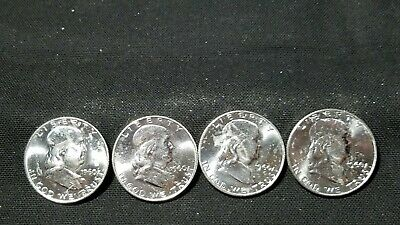 """A Lot Of (4) 1960-D Franklin Silver Half Dollar  """" We Combine Shipping """""""