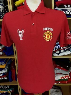 Polo Shirt Manchester United (S) Champions League Winners Jersey Cotton