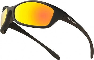 Bolle spider flash / flame - mirror lens safety glasses with free storage pouch