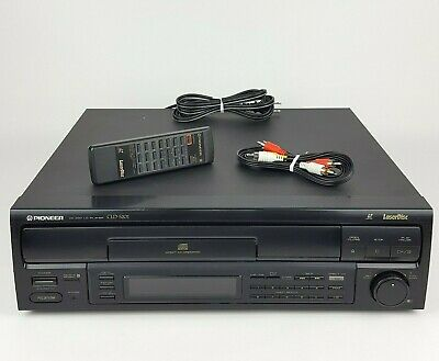 Pioneer CLD-S201 CDV LD Laserdisc & CD Player & Remote & RCA Cables FULLY TESTED