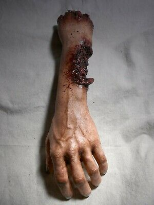 HORROR PROPS ZOMBIE BITE ARM Halloween Movie DEAD Body Parts HAND Haunted House