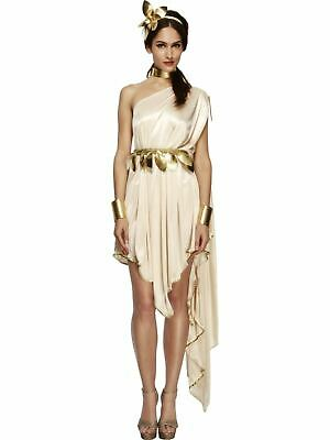 Roman Toga Greek Athena Goddess Ladies Womens Fancy Dress Costume Outfit