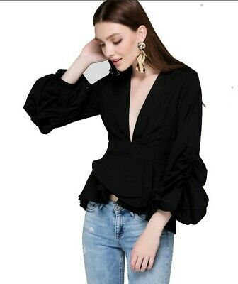 Women's Pure Color Long Sleeves Casual Street Blouse Fashion Tops Girls Ske15