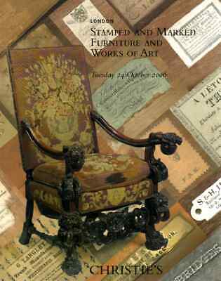 Christie's Stamped & Marked Furniture & Works Of Art