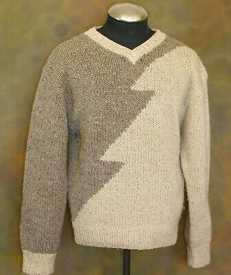 b52fb95ce1 VINTAGE 1970S YVES Saint Laurent Mens Mohair & Wool Hand-knitted Sweater  -Large