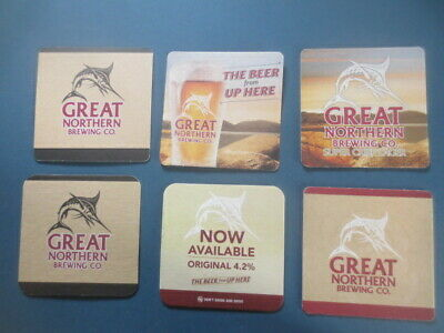 6 different GREAT NORTHERN Beer /  Brewery Special Issue BEER  COASTERS