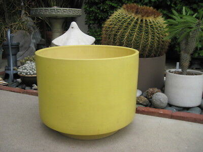 """Gainey Ceramic Planter In Yellow ~ 20"""" X 15"""" ~ MCM ~ Local Pickup ~ L.A."""