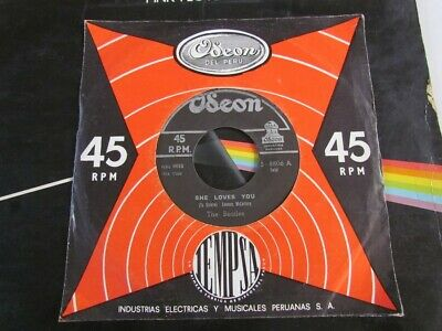 """The Beatles 7"""" Black Label Odeon Peru 60's """"she Loves You"""""""