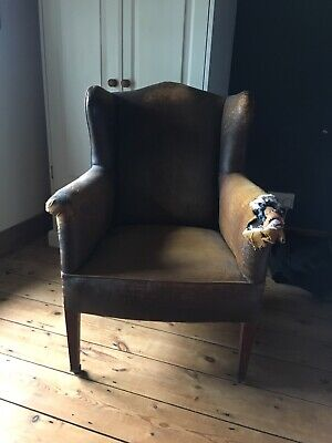 Antique Wing Chair Upholstery Project