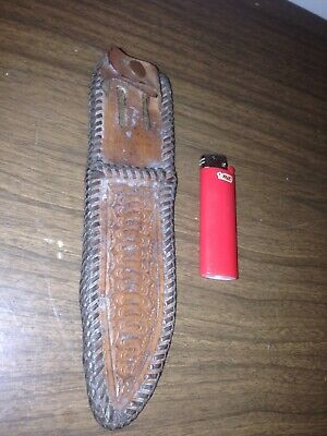 Vintage Hand Made leather sheath for knife