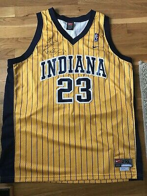2b45e637d404 RON ARTEST INDIANA Pacers Jersey Signed Size 2XL -  200.00
