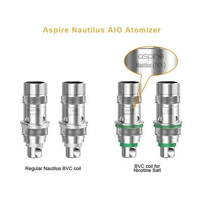 Aspire Nautilus AIO Coils Nic Sel 1,8ohm 5er Kit Complet Mod HG