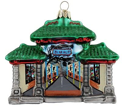 Chinatown Gateway San Francisco California Glass Christmas Ornament 110103
