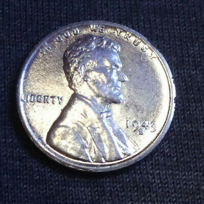 1943 S Steel Lincoln Wheat Cent Penny Uncirculated