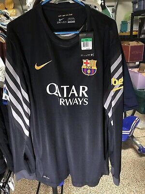 a8dbb724619 NIKE XL 2014  Barcelona GK Goalkeeper Kit Shirt Jersey Camiseta Ter ...