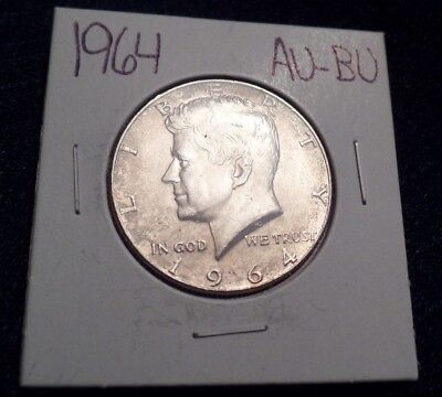#610 About To Brilliant Uncirculated Silver Kennedy Half Dollar 1964 P Au / Bu