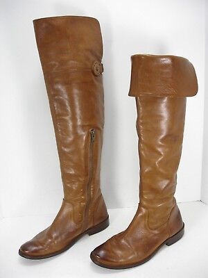 e2fff4b4a17 Frye Shirley 77739 Cognac Leather Over The Knee Riding Boots Women s 7.5 B