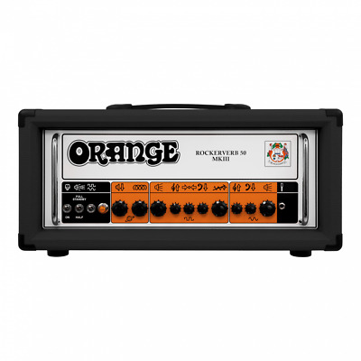 Orange RK50H MKIII Rockerverb BK (Black) Twin Channel EL34 50W Guitar Head Amp