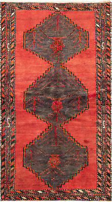 """Hand-knotted Persian Carpet 3'7"""" x 6'7"""" Persian Traditional Wool Rug"""