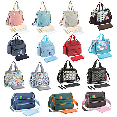 Large Baby Mom Changing Diaper Nappy Bag Mummy Mother Shoulder Messenger Handbag
