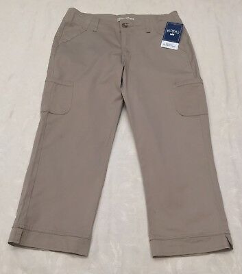 RIDERS by LEE Womens Size 10 Khaki Beige Slimming Capris Cargo CROPPED PANTS NWT