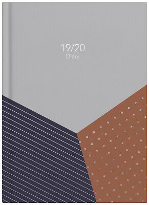 2019-2020 Financial Year Diary Milford Fashion A5 Week to View 441588 Trapez
