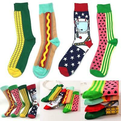 Fashion Men Women Happy Funny Socks Cotton Animal Fruit Casual Soft Bird 77 U4Z6
