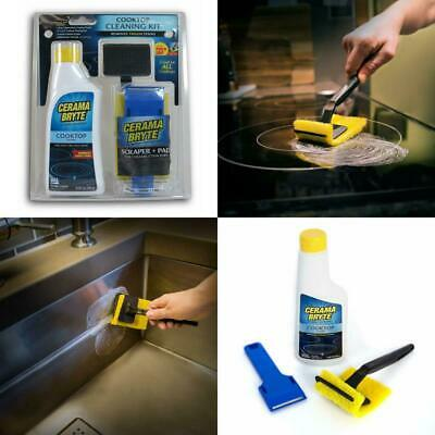 Cooktop Cleaning Cleaner Kit Glass Ceramic Stove Tops Pad and Scraper