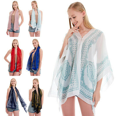 Lady Chiffon Cape Beach Wedding Wrap Cover Up Boho Shawl Bridal Bridesmaid Stole
