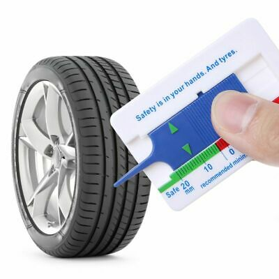 Tyre Tread Depth Gauge Car Motorcycle Wheel Trailer Measure Tool Depth Caliper