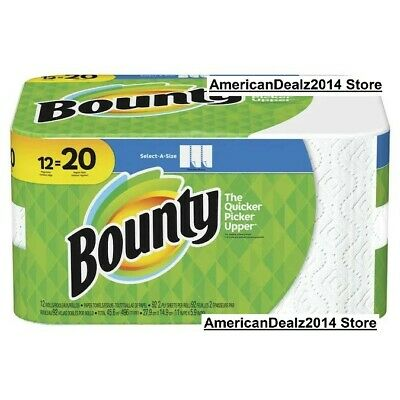 12 Giant Rolls Bounty Select-A-Size Paper Towels FAST 3 DAY SHIPPING, NEW ITEM!
