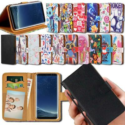 Flip Leather Smart Stand Wallet Cover Case For Samsung Galaxy S6 S7 S8 Phones