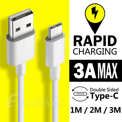 USB-C Rapid Charging USB Type-C Cable for Samsung S10 S9 S8 Plus Google SONY