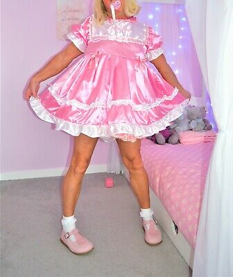 Sissy Baby Girl Party Short n Sweet Satin  Dress set From Nanny