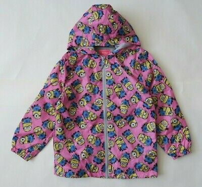 Next Girl`s Cagoules Zip Hood Shower Resistant Raincoat Pink Size 8 years