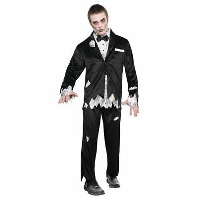 Mens Gothic Manor Groom Costume Halloween Corpse Party Walking Dead Fancy Dress