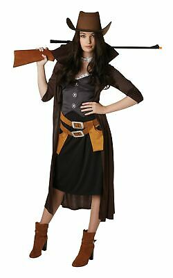 Cowgirl Western Ladies Fancy Dress Womens Costume Outfit Adult Sexy Wild West