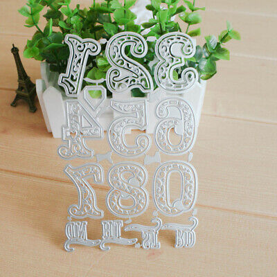 Lace Numbers Metal Cutting Dies Stencil Scrapbooking Embossing Paper Album Card