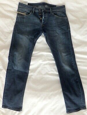 14a9fd1c Diesel Belther Mens Blue Jeans W33 L32 Wash 0814W STRETCH REGULAR SLIM  TAPERED