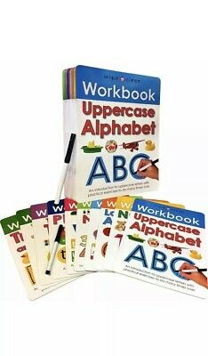 Wipe Clean Learn To Write 10 Books Collection Set With Marker Pen For Children