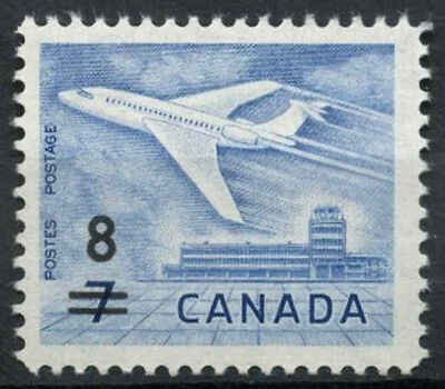 Canada 1964 SG#556, 8c On 7c Airliner MNH #D6521