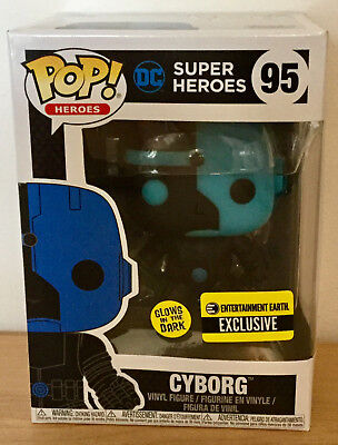 Justice League Cyborg Silhouette Pop # 95 EE Exclusive - Glows in Dark