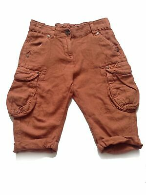 Next Girl`s Trousers Cargo Linen Blend Size 5 ,10,11,12 years