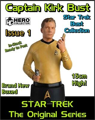 Eaglemoss Star Trek Collectors Busts: Captain Kirk Bust Issue 1 (Mag + Figure)