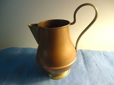 Vintage/antique Copper & Brass Small Pitcher - Italy