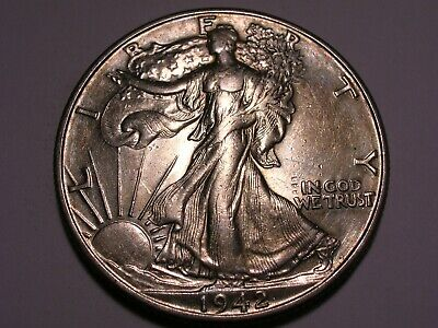 1942 D Walking Liberty Half Dollar (AU & Attractive)