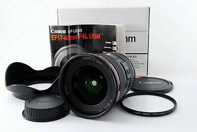 Canon EF 17-40mm F/4.0 L USM lens hood boxed fine condition [Mint] From Japan
