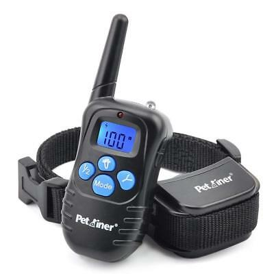 Petrainer Waterproof Rechargeable Remote Dog Shock Collar with Beep, Vibra, Elec