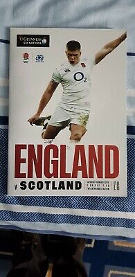 England v Scotland 6 Nations 2019 match programme