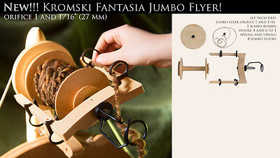 Jumbo Flyer KIT Kromski Fantasia Wheels Finished  Walnut or Clear FREE Shipping